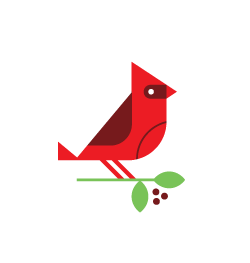 Have A Bird logo white on transparent